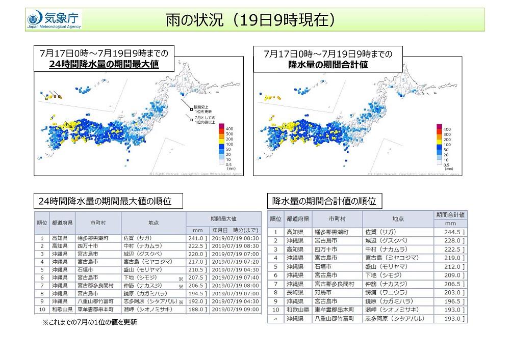 【資料】梅雨前線による大雨と台風第5号について(第2報2)